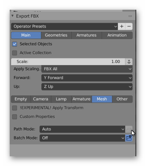 HowTo/Export from Blender using FBX - TrainzOnline