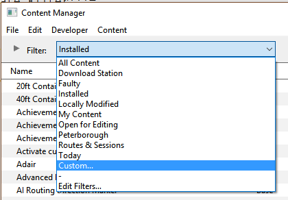 Using Content Manager to Update Assets - TrainzOnline