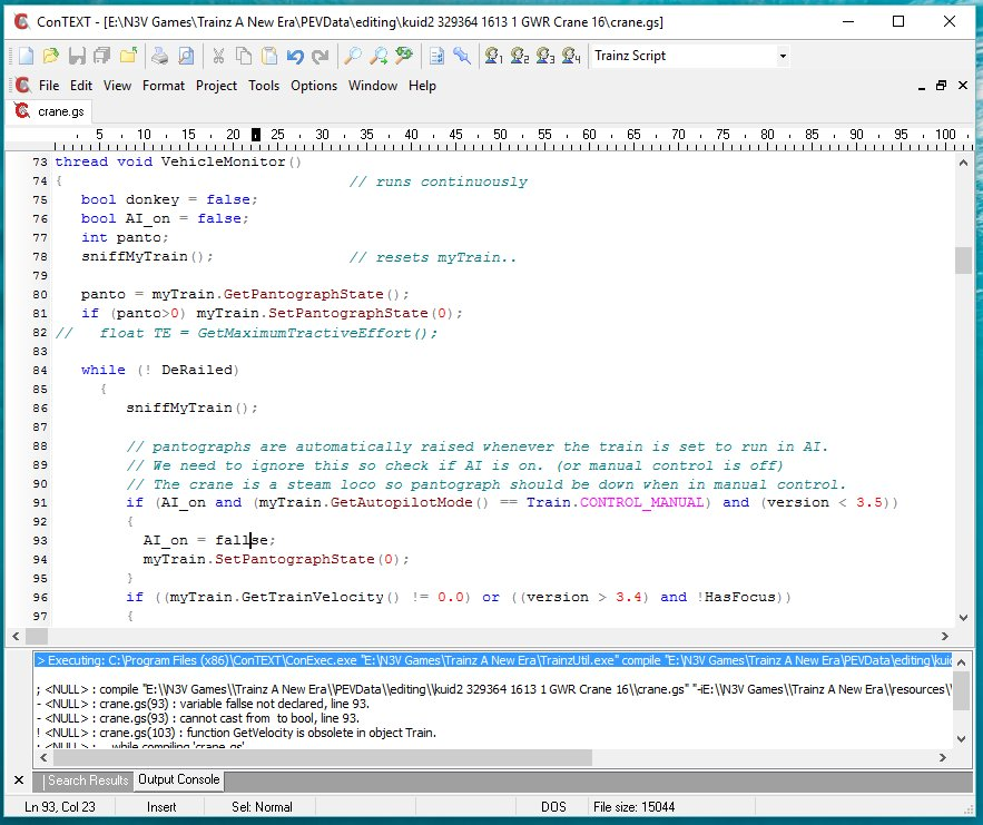 Using Context with Trainzscript - TrainzOnline